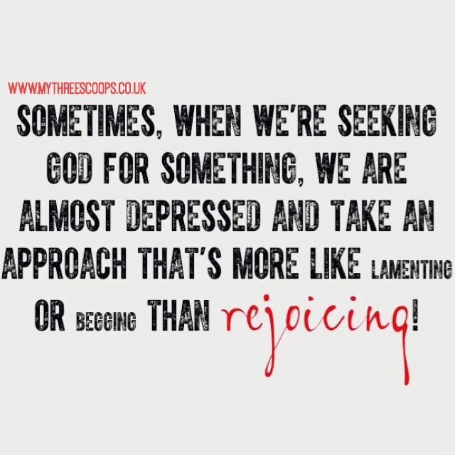 Rejoicing in prayer